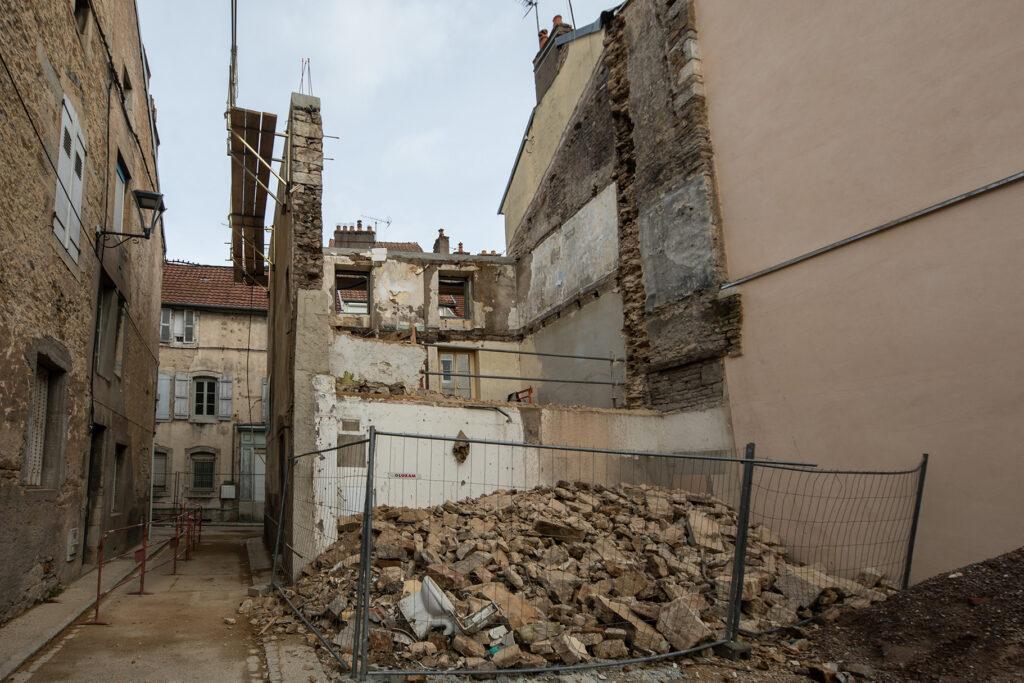 Concession de Vesoul - Maison Lesign en cours de démolition