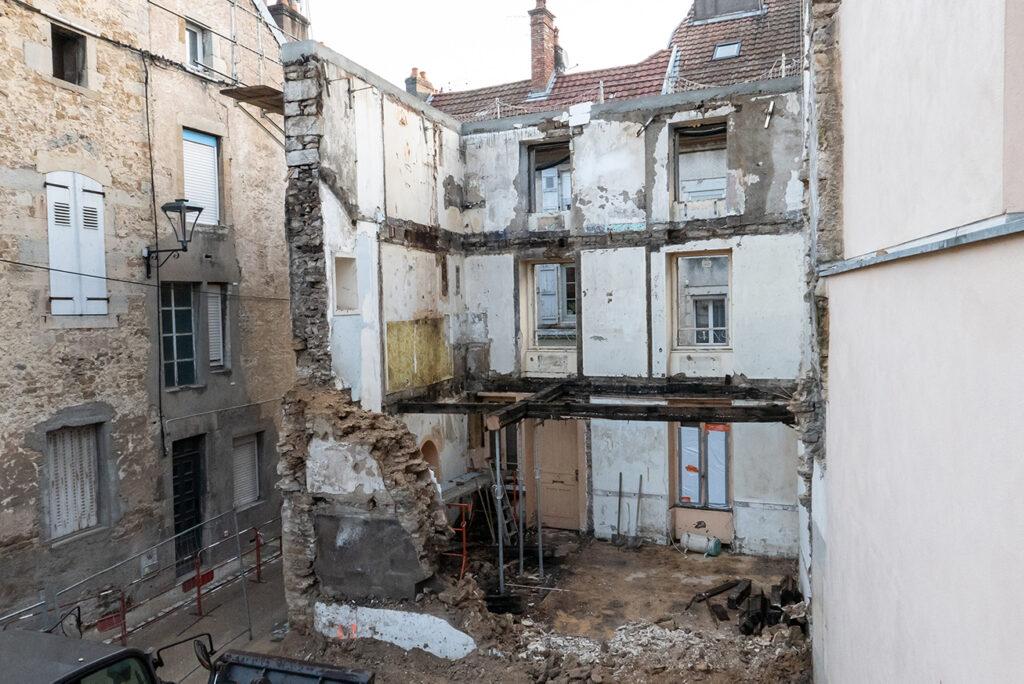 Concession Vesoul- Maison lesigne demolie 2