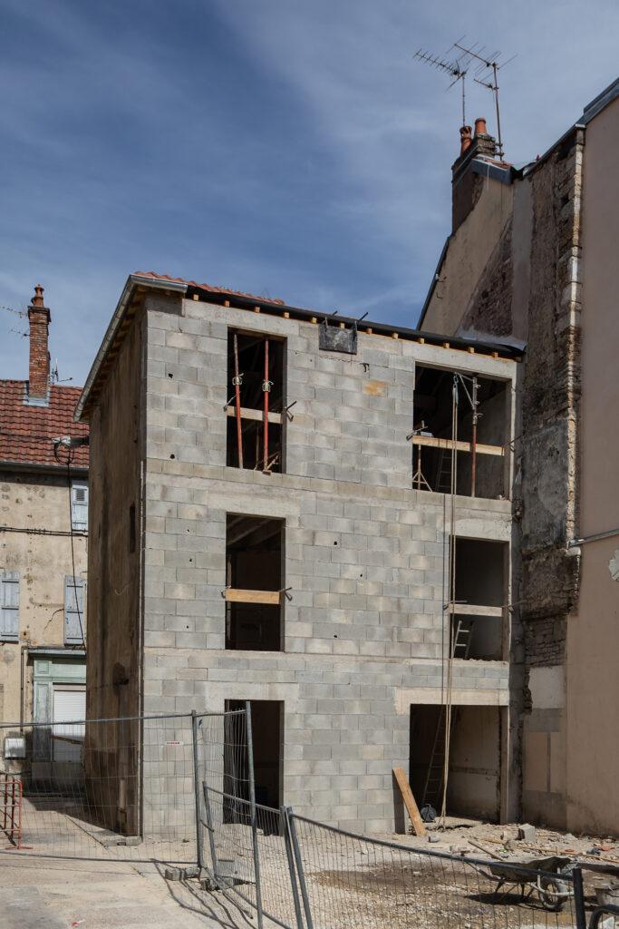 Concession Vesoul - Maison Lesigne pose de la toiture