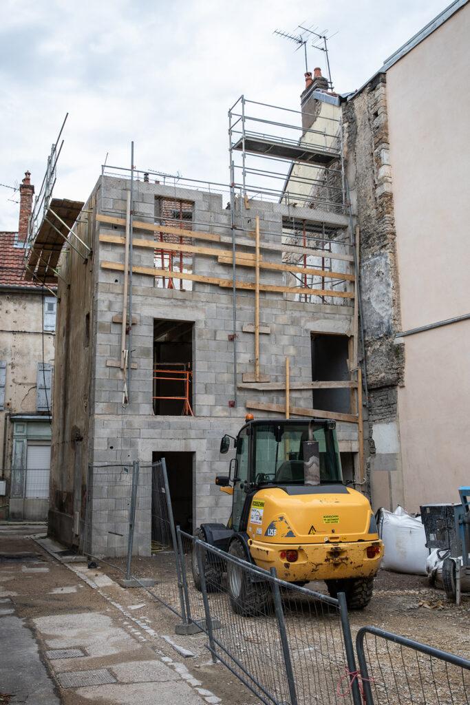 Concession Vesoul - Maison Lesigne troisieme etage en cours de construction